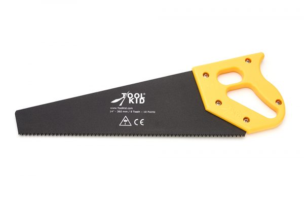 Hand saw with pistol-grip handle and Teflon blade for larger children's hands (9+)
