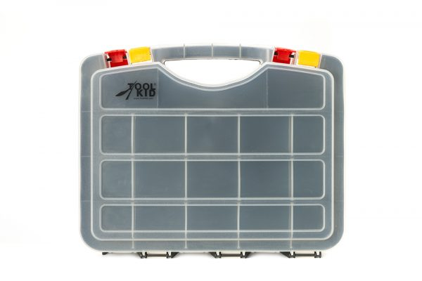 A handy storage box with space on both sides!